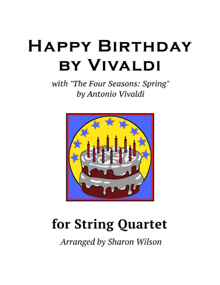 Happy Birthday by Vivaldi (for String Quartet)