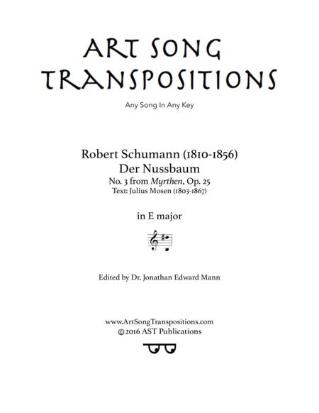 Der Nussbaum, Op. 25 no. 3 (E major)