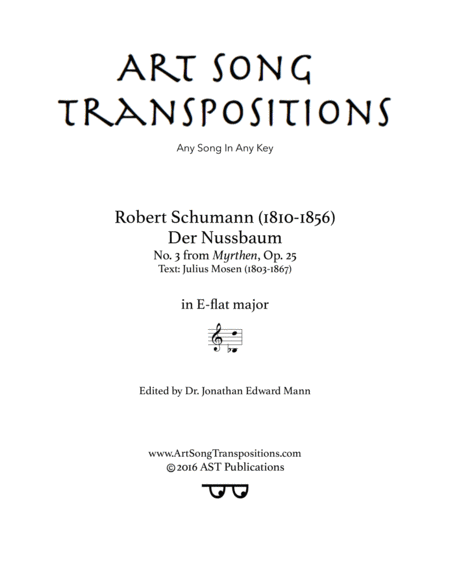 Der Nussbaum, Op. 25 no. 3 (E-flat major)