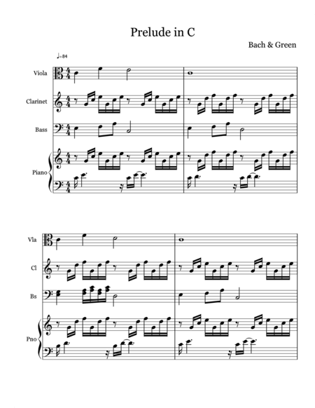 Bach's Prelude in C with melody