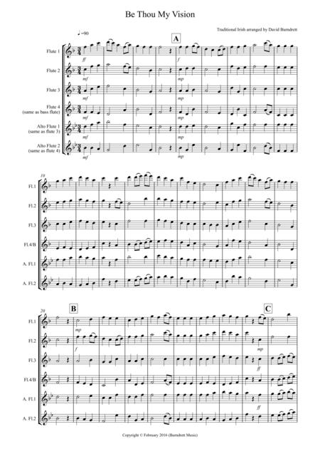 Be Thou My Vision for Flute Quartet