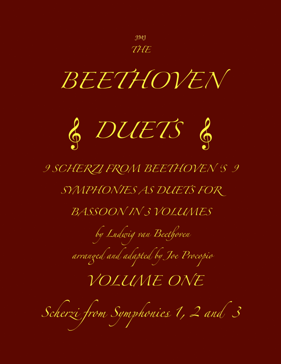 The Beethoven Duets For Bassoon Volume 1 Scherzi 1, 2 and 3