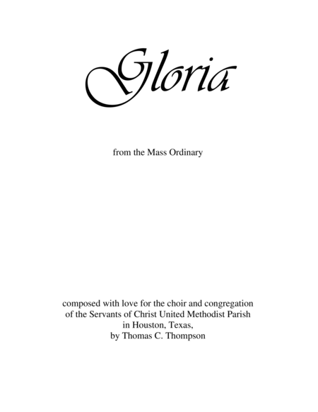 GLORIA - chorus