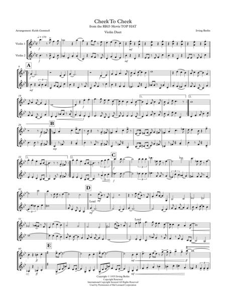 Cheek To Cheek: Violin Duet (1930s style)