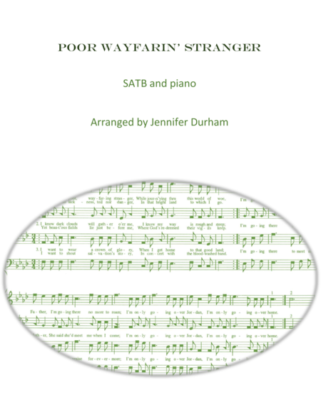 Poor Wayfarin' Stranger SATB and piano