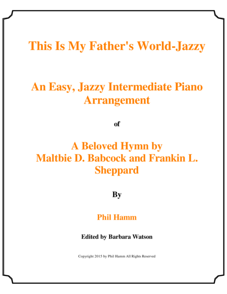 This is My Father's World-Jazzy
