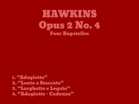 4 Bagatelles