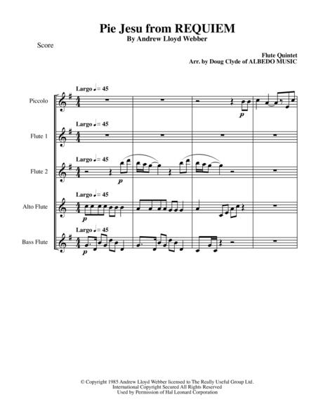 Pie Jesu from REQUIEM for Flute Quintet