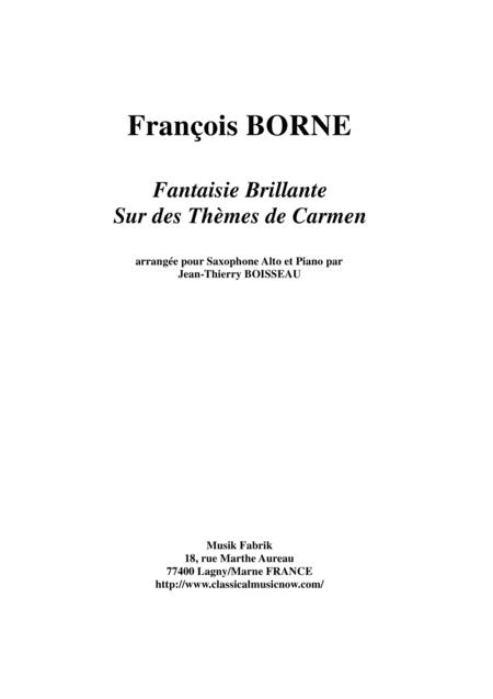 Fantaisie Brillante sur des Thèmes de Carmen for alto saxophone and piano