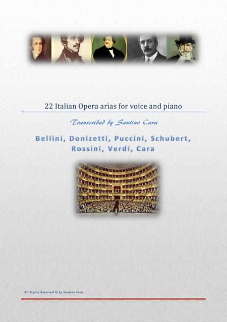 22 Italian opera arias for voice and piano