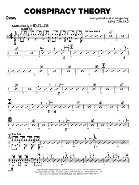 download conspiracy theory drum set sheet music by mike tomaro sheet music plus. Black Bedroom Furniture Sets. Home Design Ideas