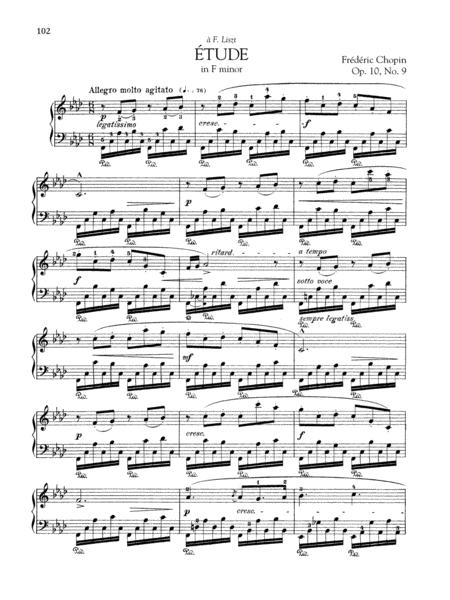 Etude in F minor, Op. 10, No. 9