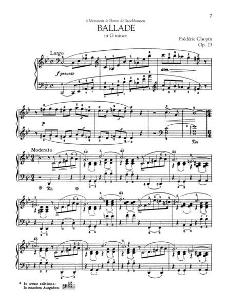 Ballade in G minor, Op. 23