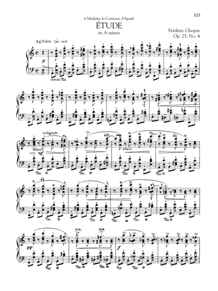 Etude in A minor, Op. 25, No. 4
