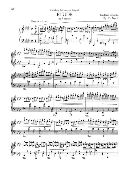 Etude in F minor, Op 25, No. 2