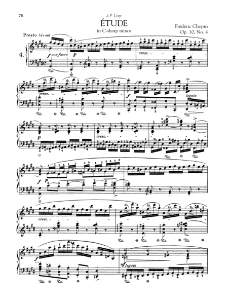 Etude in C-sharp minor, Op. 10, No. 4