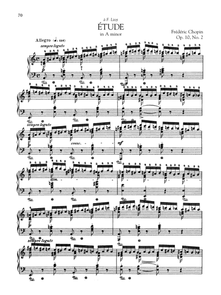 Etude in A minor, Op. 10, No. 2
