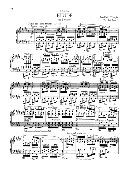 Etude in E Major, Op. 10, No. 3