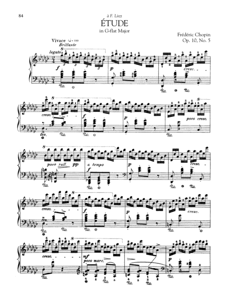 Etude in G-flat Major, Op. 10, No. 5