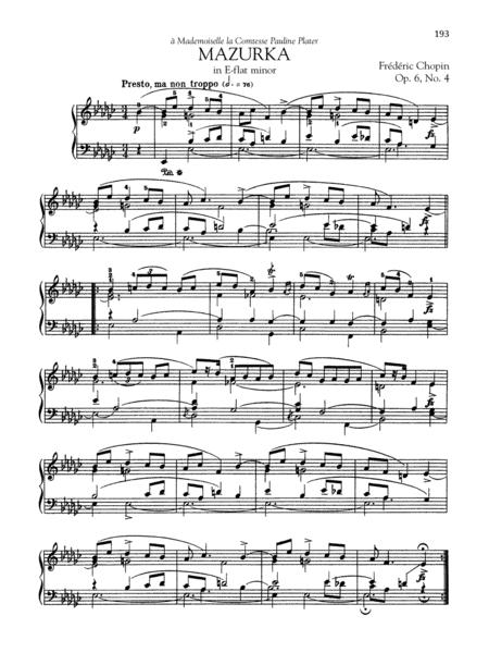 Mazurka in E-flat minor, Op. 6, No. 4