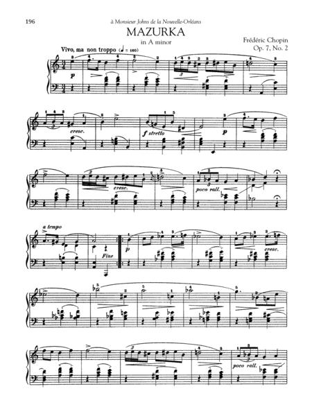Mazurka in A minor, Op. 7, No. 2