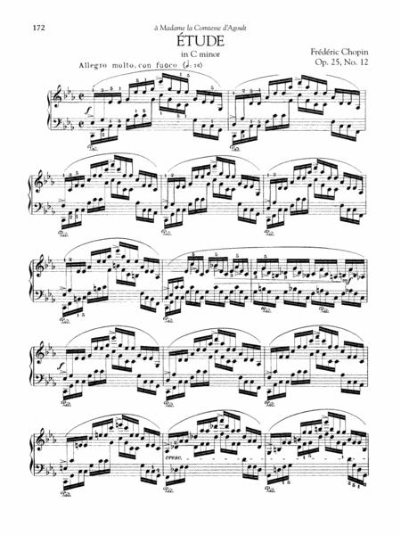 Etude in C minor, Op. 25, No. 12
