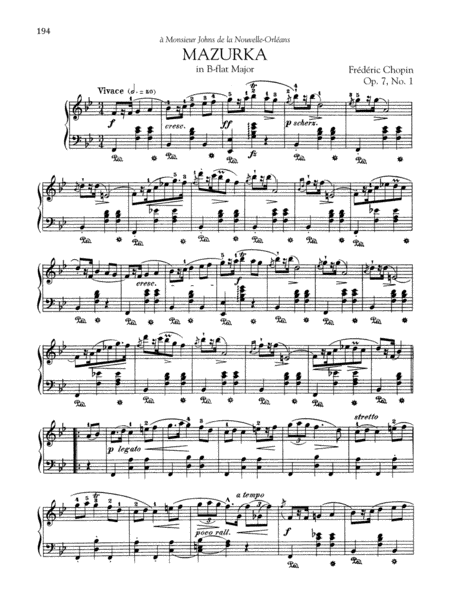 Mazurka in B-flat Major, Op. 7, No. 1