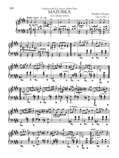 Mazurka in C-sharp minor, Op. 6, No. 2