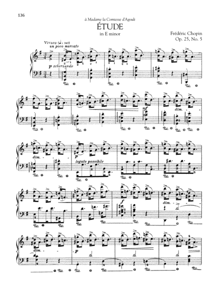 Etude in E minor, Op. 25, No. 5