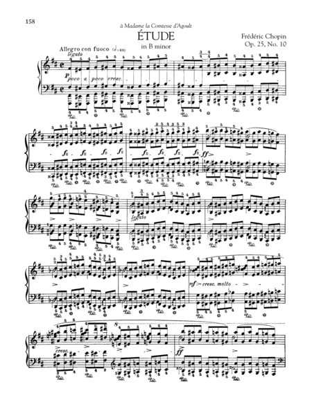 Etude in B minor, Op. 25, No. 10