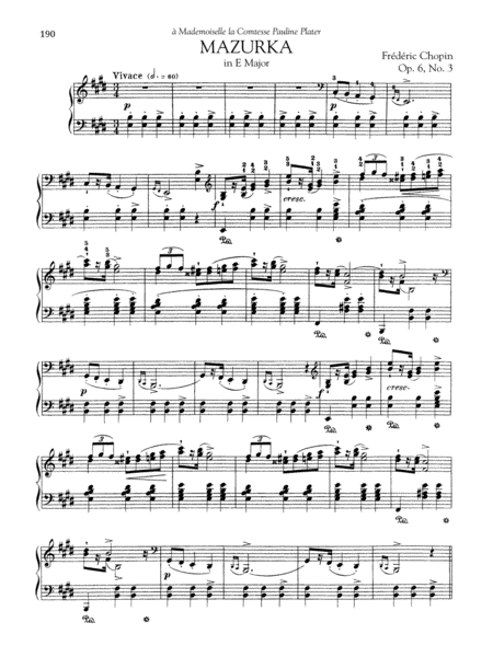 Mazurka in E Major, Op. 6, No. 3