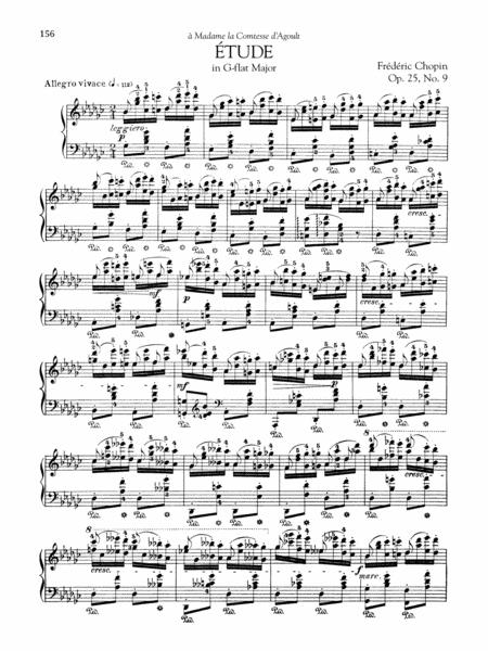Etude in G-flat Major, Op. 25, No. 9