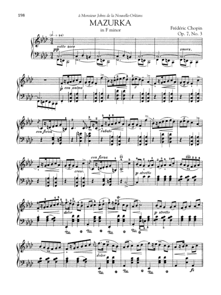 Mazurka in F minor, Op. 7, No. 3