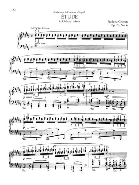 Etude in G-sharp minor, Op. 25, No. 6