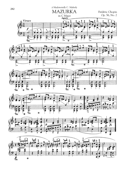 Mazurka in C Major, Op. 56, No. 2