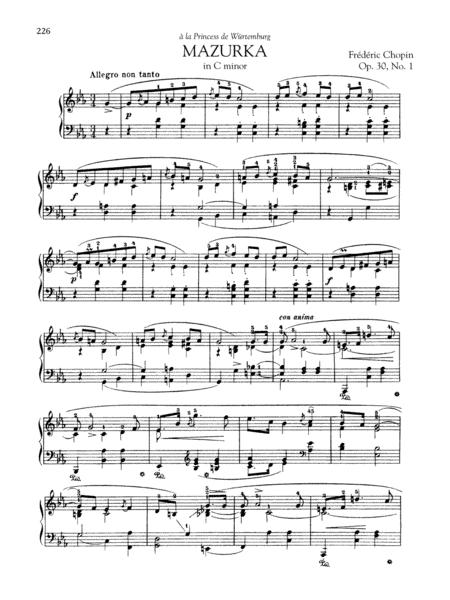Mazurka in C minor, Op. 30, No. 1