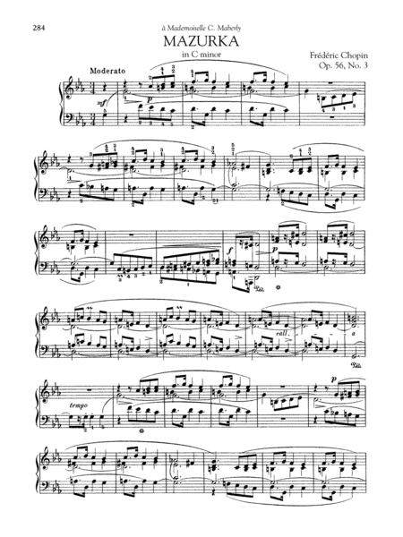 Mazurka in C minor, Op. 56, No. 3