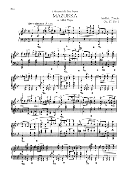 Mazurka in B-flat Major, Op. 17, No. 1