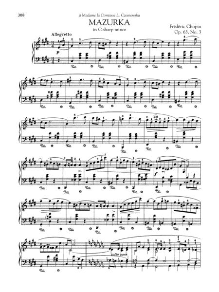 Mazurka In C-sharp minor, Op. 63, No. 3