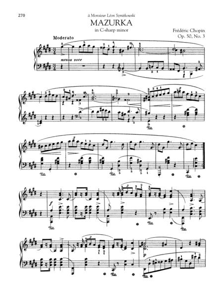 Mazurka in C-sharp minor, Op. 50, No. 3