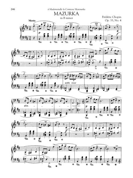 Mazurka in B minor, Op. 33, No. 4