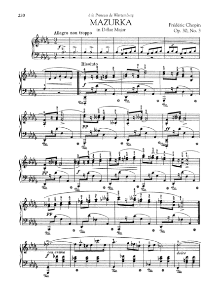 Mazurka in D-flat Major, Op. 30, No. 3