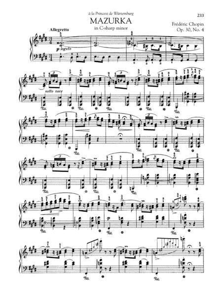 Mazurka in C-sharp minor, Op. 30, No. 4