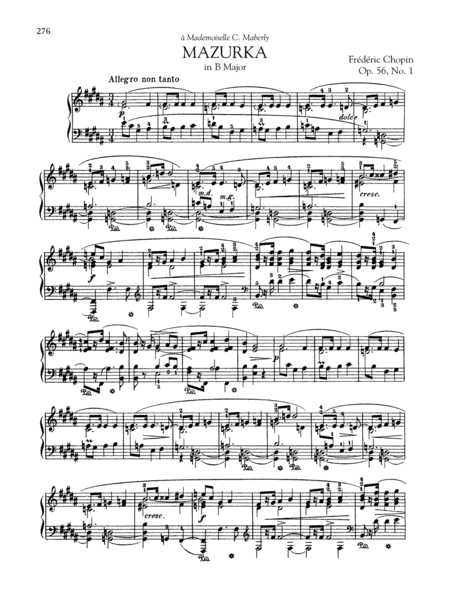 Mazurka in B Major, Op. 56, No. 1