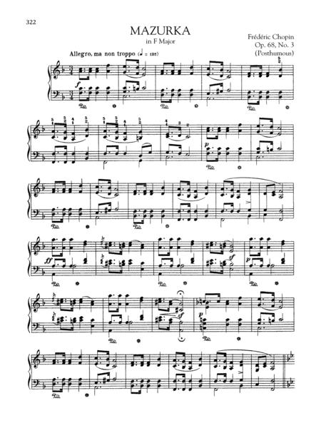 Mazurka in F Major, Op. 68, No. 3 (Posthumous)
