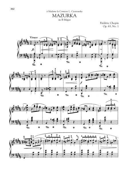 Mazurka in B Major, Op. 63, No. 1