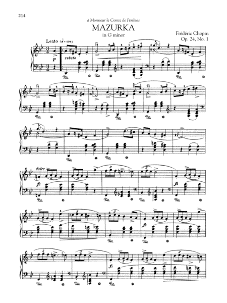 Mazurka in G minor, Op. 24, No. 1