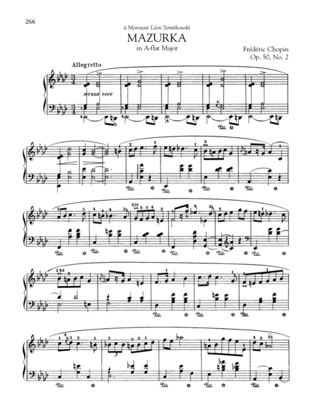 Mazurka in A-flat Major, Op. 50, No. 2