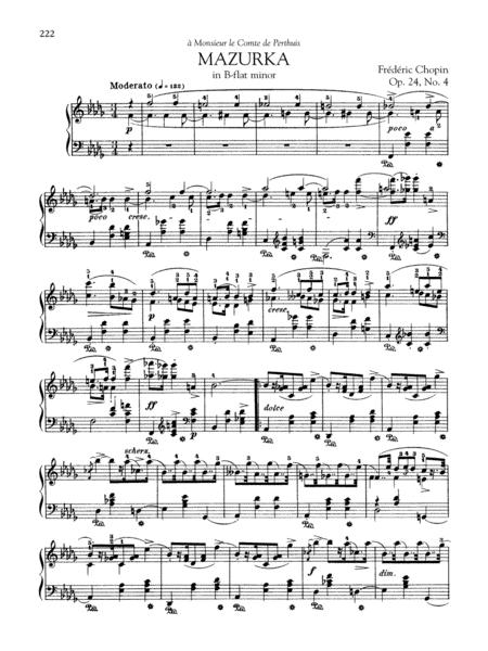 Mazurka in B-flat minor, Op. 24, No. 4