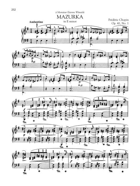 Mazurka in E minor, Op. 41, No. 1